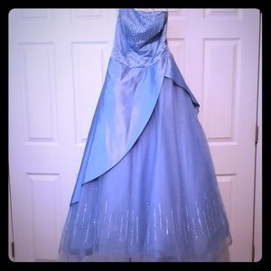 Tiffany Designs Blue ballgown